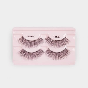 Kiss Looks So Natural Lashes Double Pack - Graceful