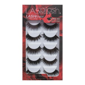LA Splash LASHtease Faux Mink 5 Pair Kit - Wickedly Divine