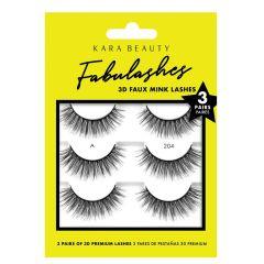 Kara Beauty 3D Faux Mink Lashes 3 Pairs A204