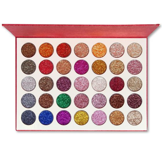 Kara Beauty Galaxy Glitter Eyeshadow Palette - ES18